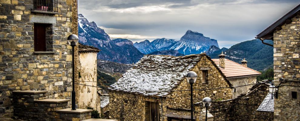 Perspectiva del Pirineo desde Fanlo (Huesca)