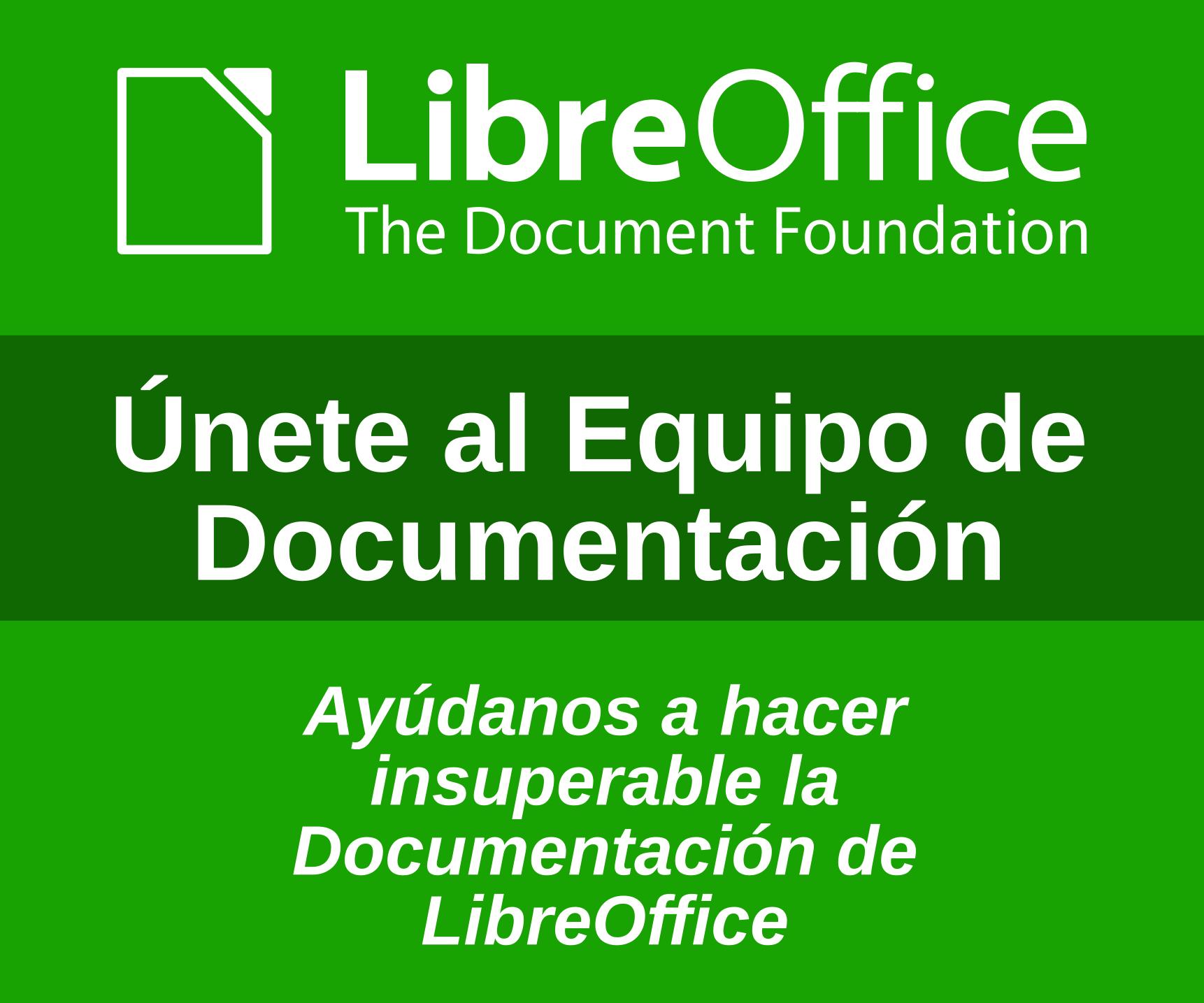 Documentación LibreOffice en español