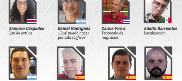 Afiche del evento en línea de la comunidad hispana de LibreOffice del 20/06/2020.